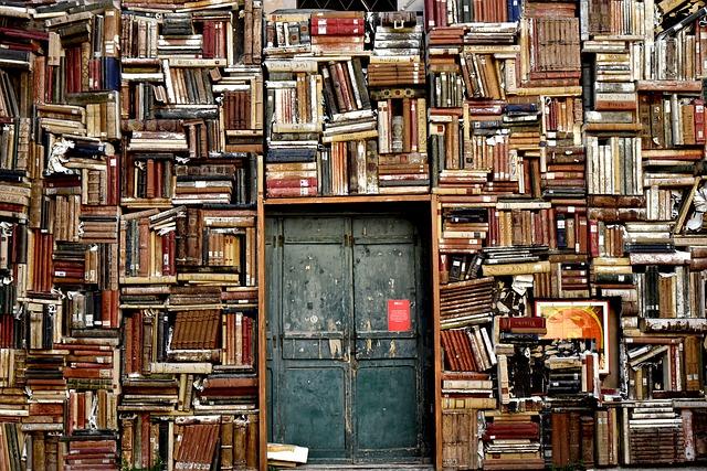 たくさんの本とドア