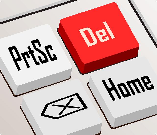 パソコンキーボードDelのボタン