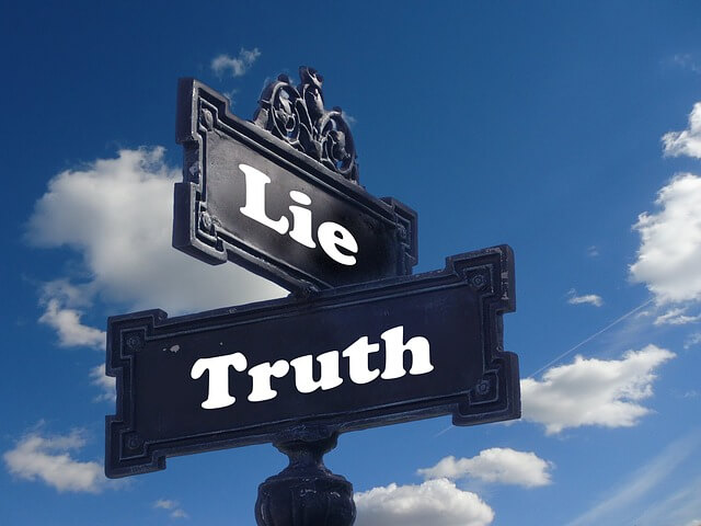 truthとlieの文字