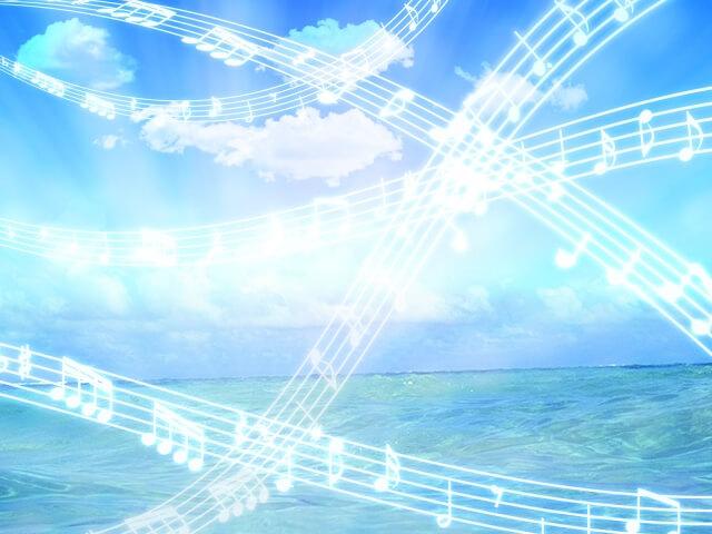 空と海に音符